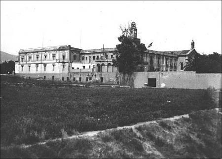 Vista de la prisión de Les Corts.