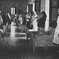 Departamento de presas madres de la prisión de Les Corts.