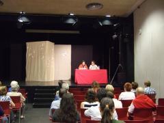 Un moment de l'acte de inauguració, al Centre Cívic de Les Corts