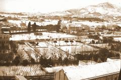 Nevada a Barcelona, 15 y 16 de enero de 1914. Autor: Marià Faura. Arxiu Fotogràfic del Museu Geològic del Seminari de Barcelona. Reproducció de Sergi Falguera Torres.